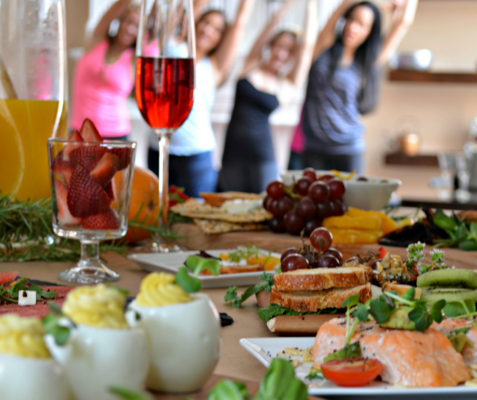 yoga parties brunch